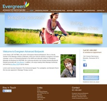 Evergreen Advanced Bodywork website development by Whippet Creative