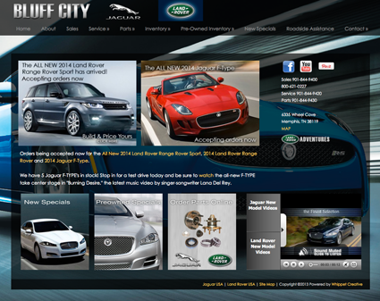 Bluffcity Jaguar. Jaguar Land Rover Bluff City